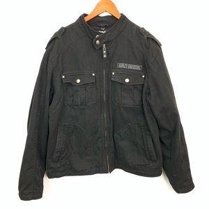 Harley Davidson Canvas Jacket Willie G Skull Sz L